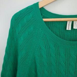 Madison//Kelly Green Long Sleeve Top